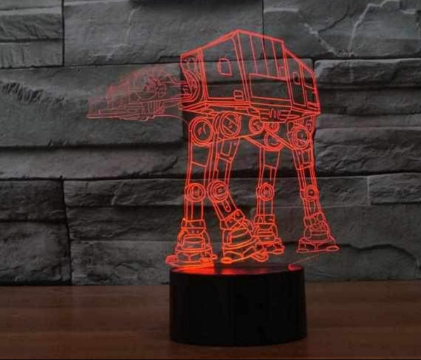 3d Laser Lit star Wars ATAT Nightlight
