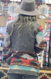 Southwestern Aztec  Print Zip up Jacket
