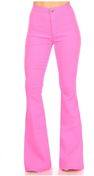 Hot Pink Bell Bottom Flares