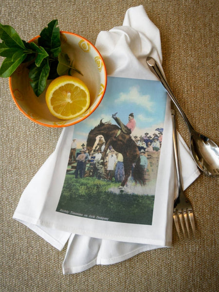 Buddy Timmons Cowboy Rodeo Tea Towel