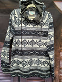 Sandia Mountain Aztec Hooded Fleece Pullover