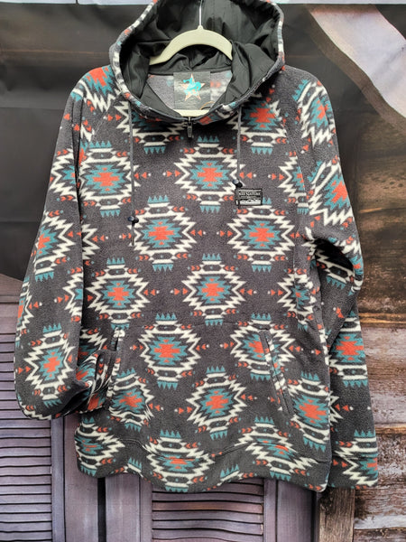 Rockway Aztec Hooded Fleece Pullover