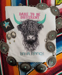 Dare To Be Different Highland Cow Tee
