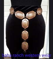 The Nacoma Copper Concho Belt