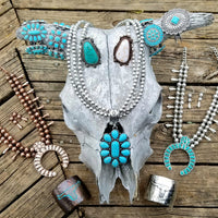 The Rio Turquoise Concho Necklace