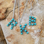 Little Turquoise Initial Necklace PRE ORDER ETA 5/24/21