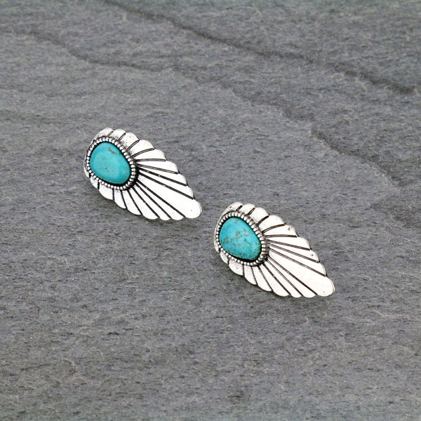 Turquoise Stone Earrings PRE ORDER ETA 1/26/21
