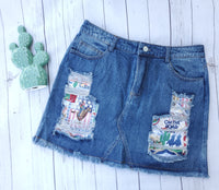 Wild, Wild West Denim Skirt