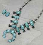 Riviera Patina tone Squash Blossom Necklace