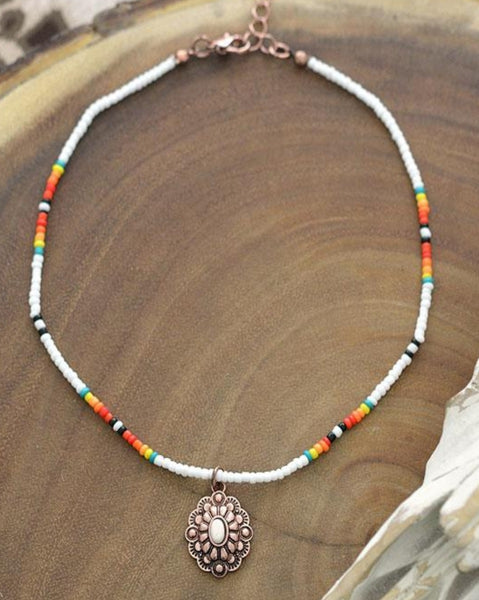 Little Concho Beaded Choker  PRE ORDER ETA 3/15/21