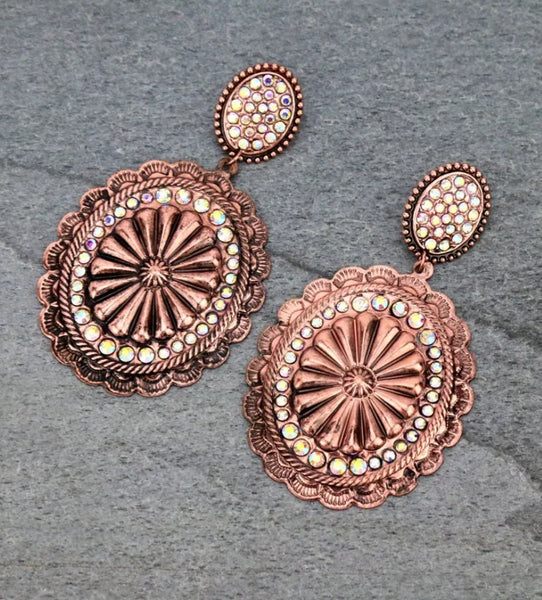 Copper Concho Earrings pre order eta 4/20/21