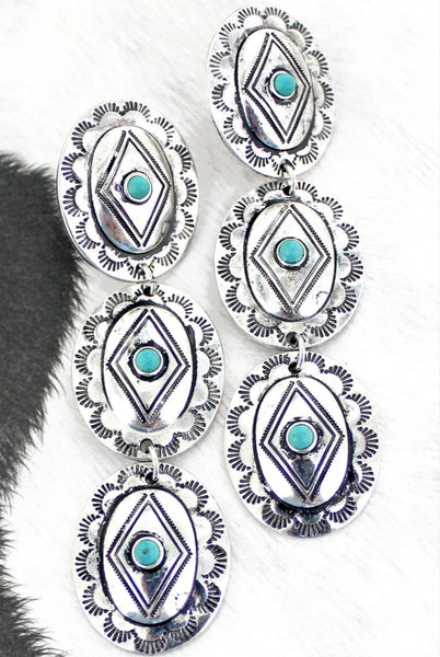 Triple Concho Earrings PRE ORDER ETA 6/3/21