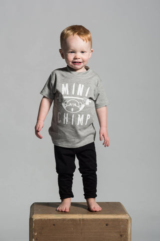 Mini Chimp Crew Neck Cotton T Shirt