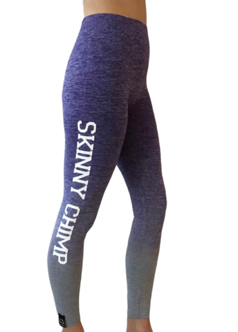 Ombre Leggings - Blue White