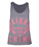 Classic Raw Cut Unisex Gym Vest-Grey Pink