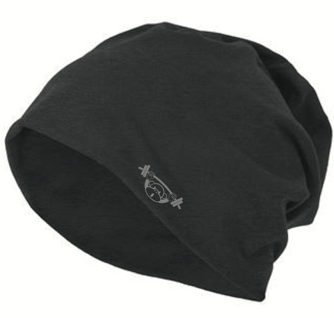 Graphite Collection - Over Sized Black Beanie Hat