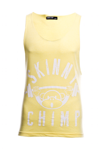 Classic Raw Cut Unisex Gym Vest-Yellow