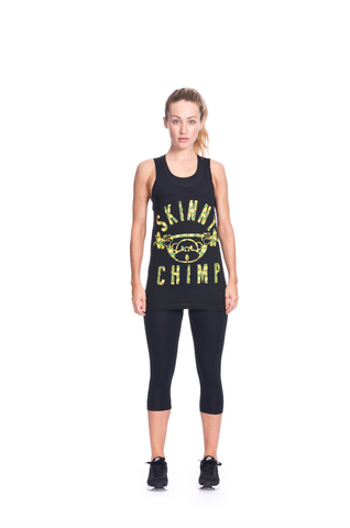 Classic Raw Cut Gym Vest -  Banana Camo