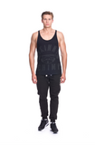Classic Raw Cut Gym Vest - Black on Black