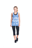 Classic Raw Cut Gym Vest -  Pale Blue