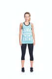 Classic Raw Cut Unisex Gym Vest- Mint