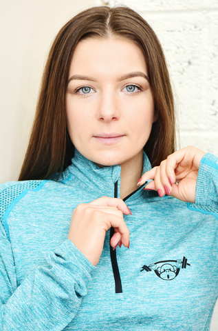 Long Sleeved Seamless Performance Top - Blue