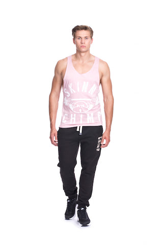 Classic Raw Cut Unisex Gym Vest-Pale Pink