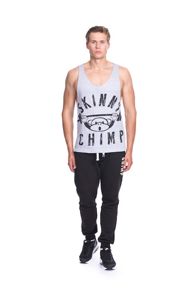 Classic Raw Cut Unisex Gym Vest-Grey