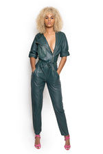 Vintage Leather Jumpsuit