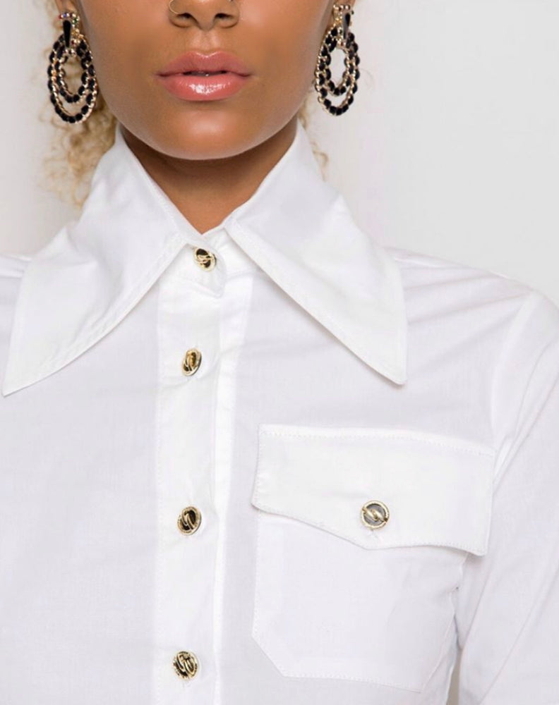 The Skinny Button-Down Top by Aci | Nae