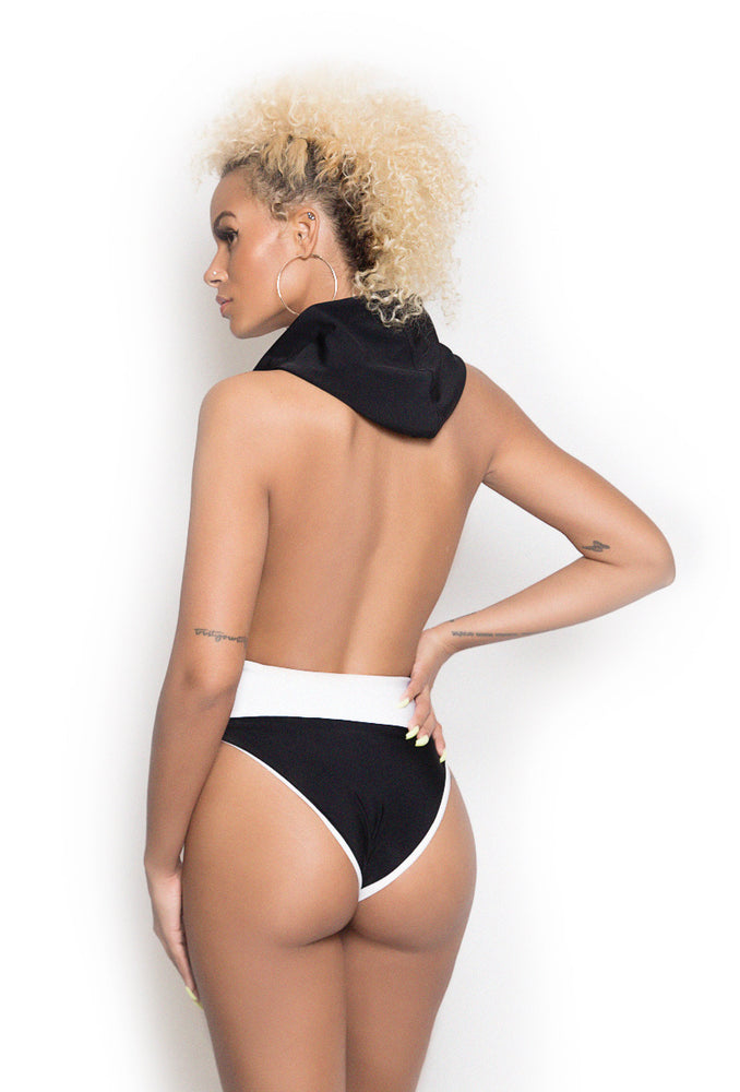 Black & White Inside Out Swimsuit