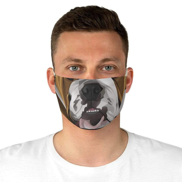 Accessories One size Winey Bitches Co English Bulldog Fabric Face Mask WineyBitchesCo