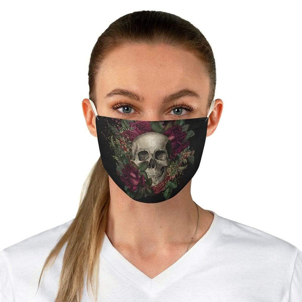 Accessories One size Winey Bitches Co Floral Skull #1Fabric Face Mask WineyBitchesCo