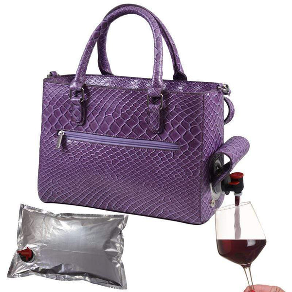 Accessories Winey Drink Purse in Purple Burmese WineyBitchesCo