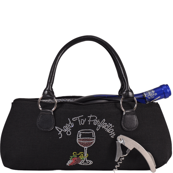 "Accessories Winey Wine Clutch Purse- Blinged ""Aged to Perfection"" WineyBitchesCo"