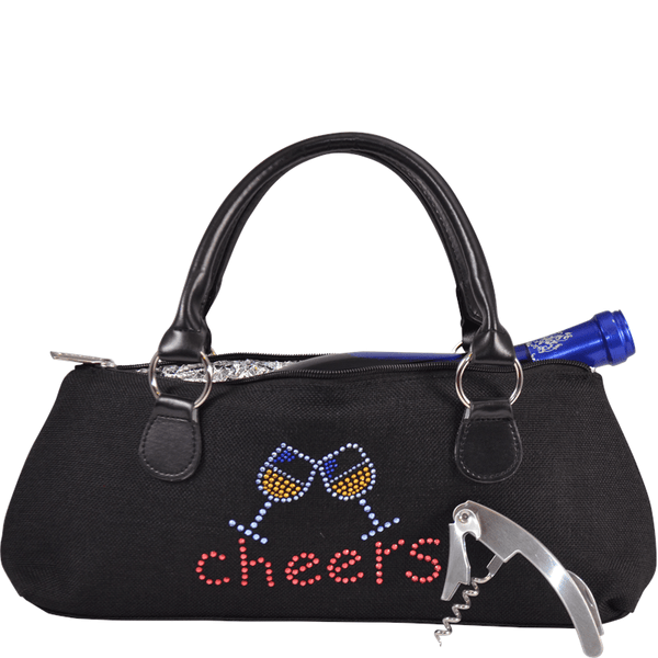 "Accessories Winey Wine Clutch Purse- Blinged ""Cheers"" WineyBitchesCo"