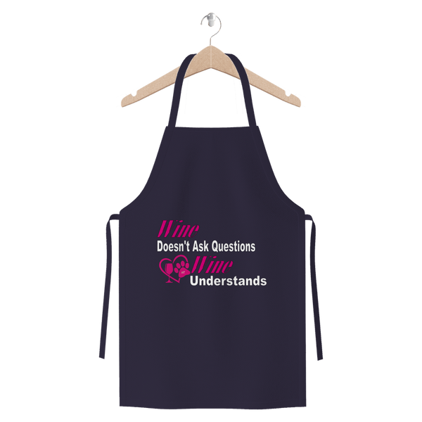 Apparel Navy Wine Understands Collection Premium Jersey Apron WineyBitchesCo