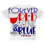 Apparel XS WineyBitches.Co Forever Red Wine Blue Classic Adult T-Shirt WineyBitchesCo
