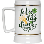 "Drinkware White / One Size Winey Bitches Co ""Let's Day Drink"" Beer Stein 22oz. WineyBitchesCo"