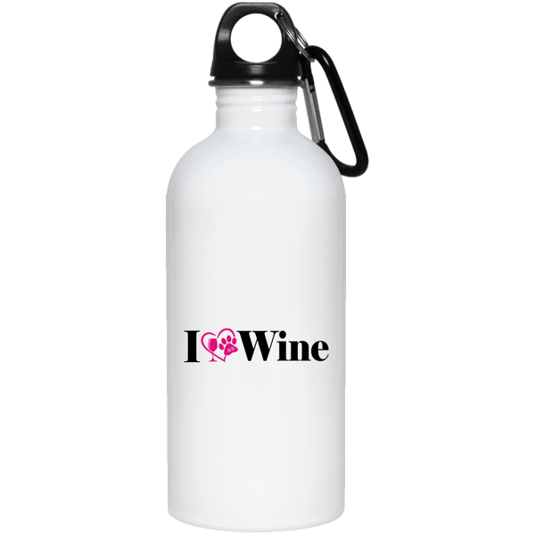 "Drinkware White / One Size WineyBitches.Co ""I Love Wine 20 oz. Stainless Steel Water Bottle WineyBitchesCo"