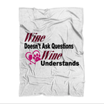 "Homeware 51""X69"" (130X175 cm) / 51""X69"" Wine Understands Collection Sublimation Adult Blanket WineyBitchesCo"