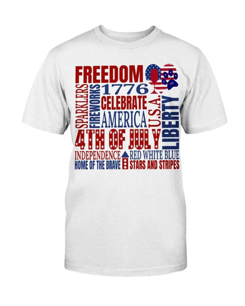"Shirts White / S Winey Bitches Co ""Celebrate America"" Ultra Cotton T-Shirt-4th of July WineyBitchesCo"