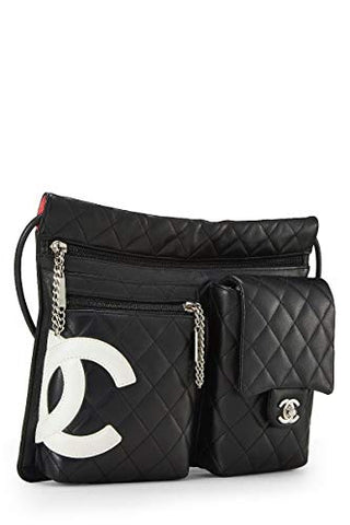 0a4a5be84205 CHANEL Black Quilted Calfskin Cambon Ligne Shoulder Bag (Pre-Owned ...