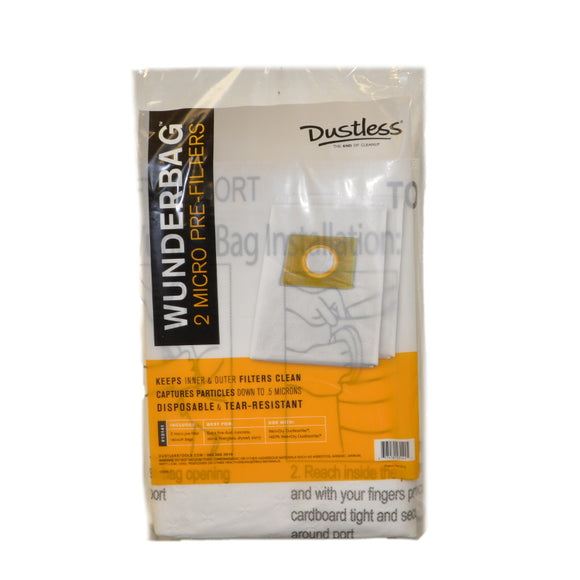 Dustless Dust Collector Bags Wunderbag 12-18 Gallon (2-Pack) 13141 - VacuumStore.com