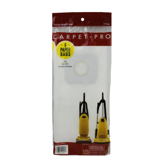 Carpet Pro Type CPU Bags (6-Pack) CPP-6 - VacuumStore.com