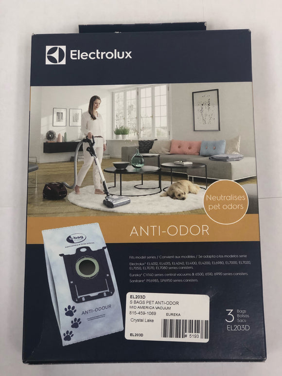 Electrolux S-Bag Anti-Odor Bags (3-Pack) [EL203D] - VacuumStore.com