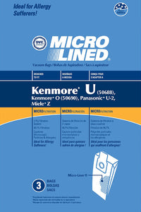 Panasonic type U-2, U-10, And U-12 Bags 3 Pack