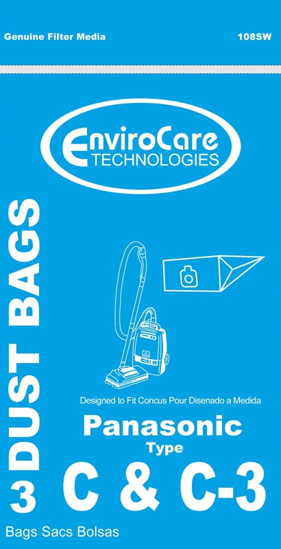 Panasonic Type C And C-3 Bags 3 Pack - VacuumStore.com
