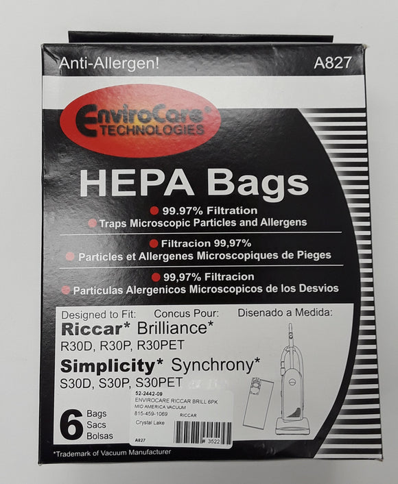 Simplicity Type S30 Synchrony Bags 6 Pack Generic - VacuumStore.com