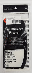 Generic Miele Exhaust Filters 3pk